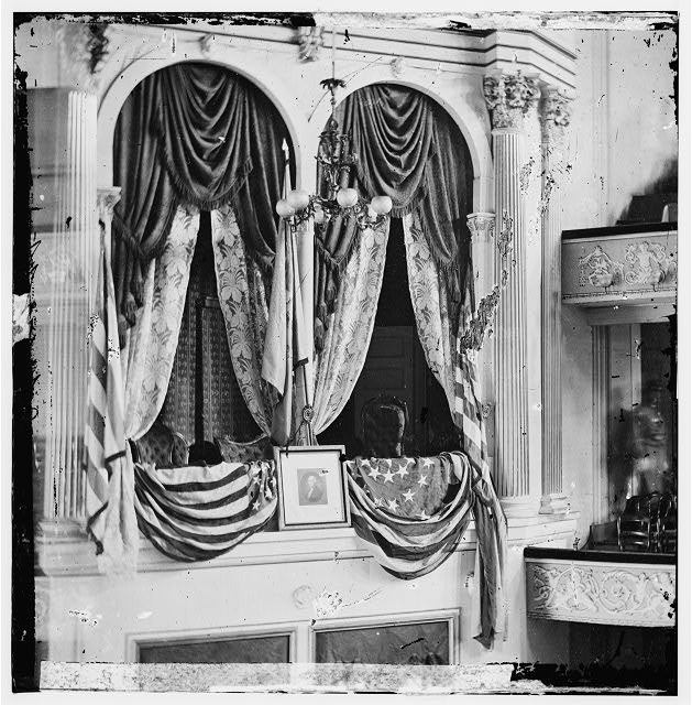 Washington, District of Columbia. President's box at Ford's Theatre
