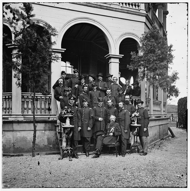 Charleston, South Carolina. Gen. John P. Hatch and staff at headquarters, South Battery