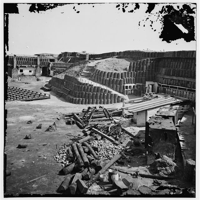 [Charleston, S.C. Interior of Fort Sumter, with gabion reinforcements]
