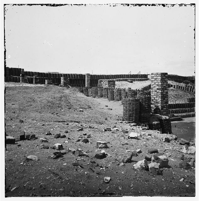 Charleston Harbor, South Carolina. Interior view of Fort Sumter