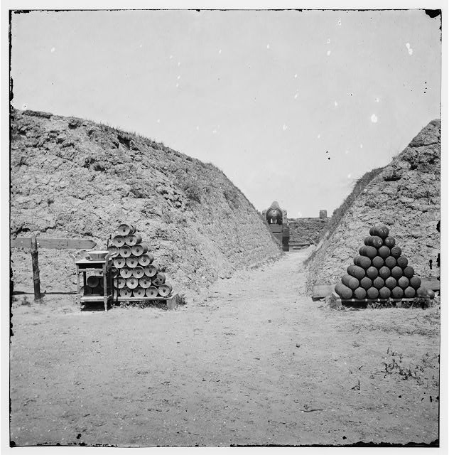 Charleston, South Carolina (vicinity). Interior view of Fort Johnson. (Morris Island)