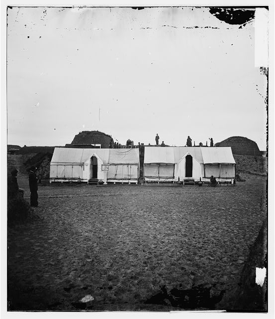 [Morris Island, S.C. Quarters of Federal garrison inside Fort Wagner]