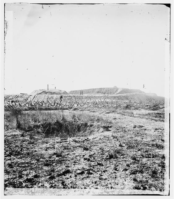 Savannah, Georgia (vicinity). Fortifications in front of Fort McAllister