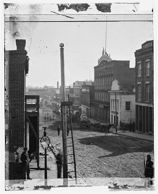 [Atlanta, Ga. Wagon train on Marietta Street]