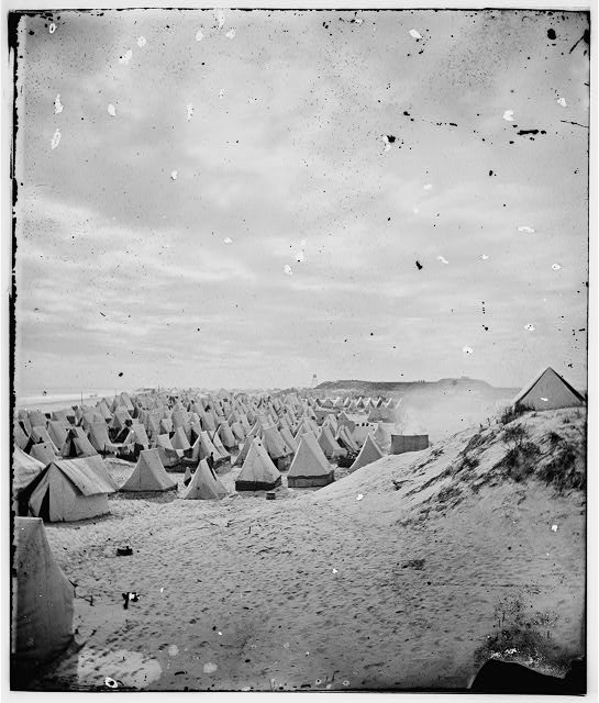 Federal camp on beach