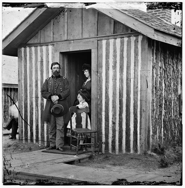 City Point, Virginia. Gen. John A. Rawlins, wife and child at Grant's headquarters