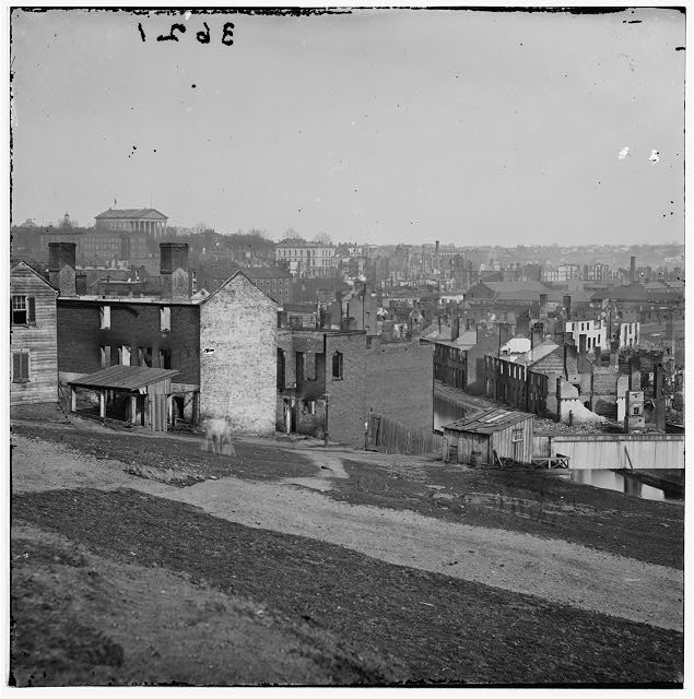 Richmond, Virginia. View of burnt district from Gamble&#39;s Hill