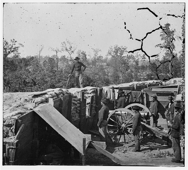 Atlanta, Georgia. Sherman's men in Confederate fort