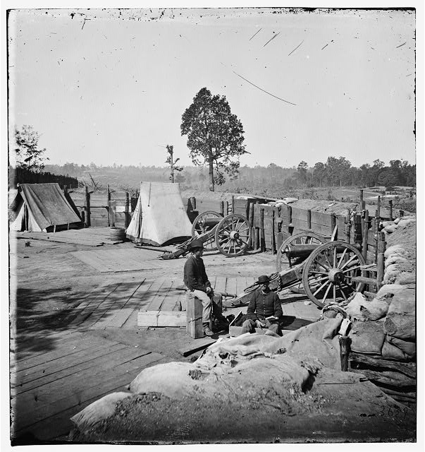 Atlanta, Georgia. Confederate fort in front of Atlanta
