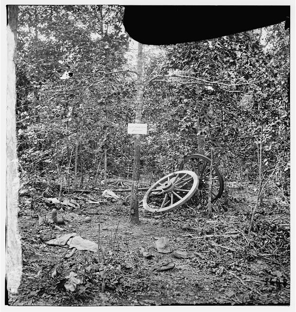 Atlanta, Georgia (vicinity). Spot in woods where Gen. James B. McPherson was killed, July 22, 1864
