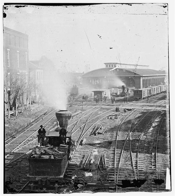 Atlanta, Georgia. Railroad yards