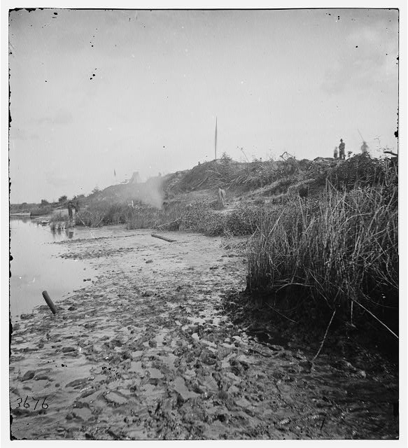 Savannah, Georgia (vicinity). In front of the parapet Fort McAllister