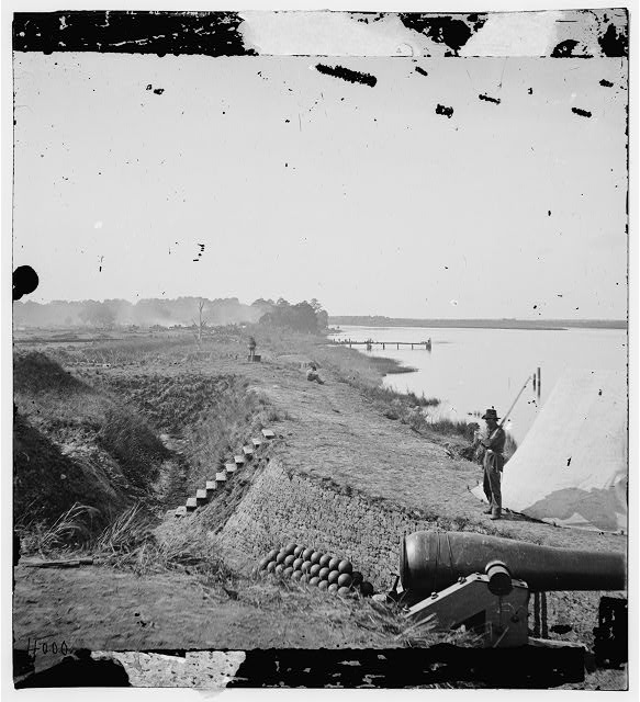 Savannah, Georgia (vicinity). View of Fort McAllister on the Ogeechee River