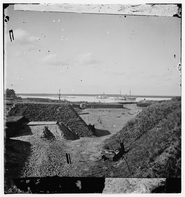 [Savannah, Ga., vicinity. Interior view of Fort McAllister, 14 miles south of the city; the Ogeechee River beyond]