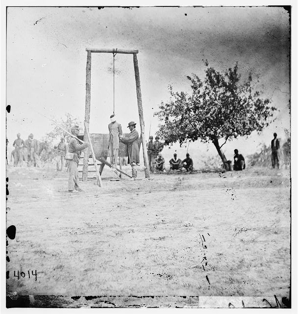 Petersburg, Virginia (vicinity). Hanged body of William Johnson, a Negro soldier
