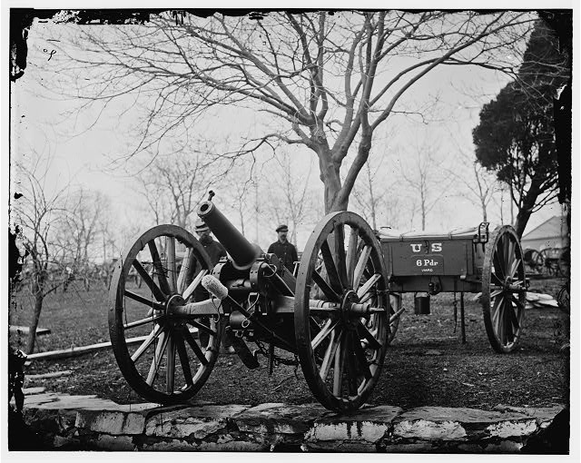 Washington, District of Columbia. 6-pdr. Wiard gun at the Arsenal