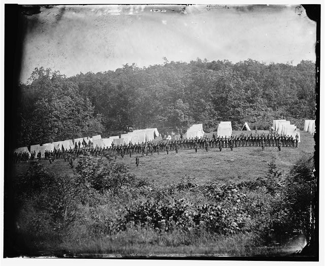 Gettysburg, Pennsylvania. Camp of the 50th Pennsylvania Infantry