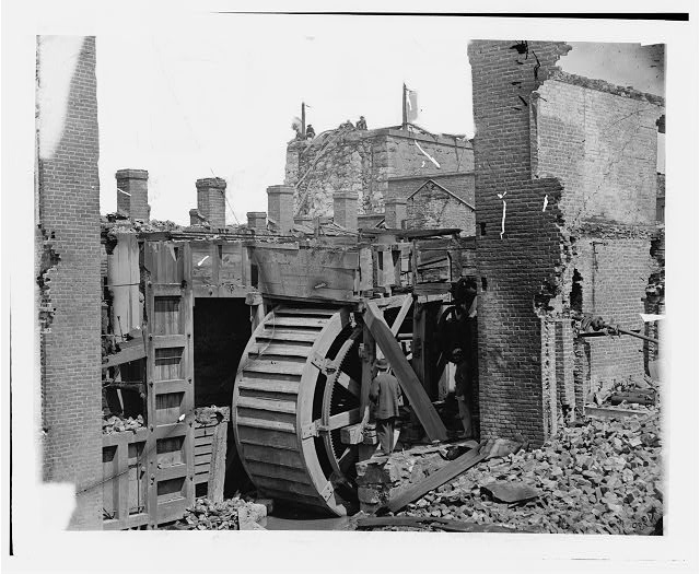 Richmond, Virginia. Ruins of State Arsenal