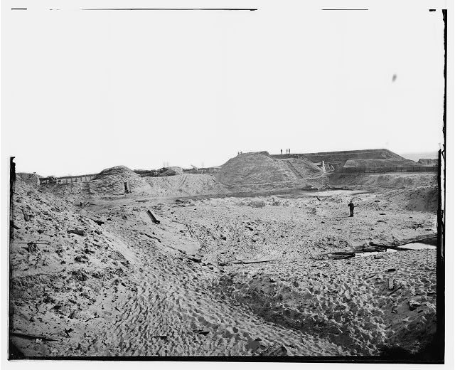 [Fort Fisher, N.C. Interior view of southeast end, showing site of main magazine]