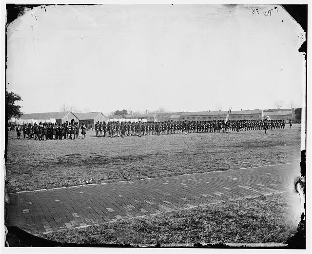 [Fort Monroe, Va. 3d Pennsylvania Heavy Artillery on parade]