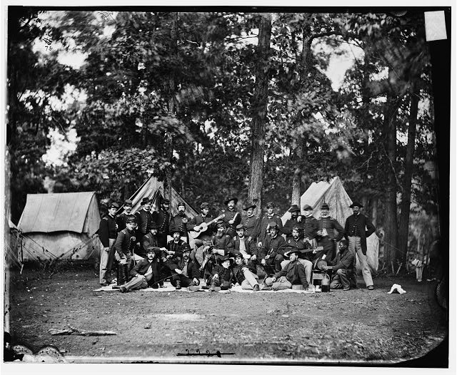 [Culpeper, Va. Officers of the U.S. Horse Artillery Brigade commanded by Capt. James M. Robertson]