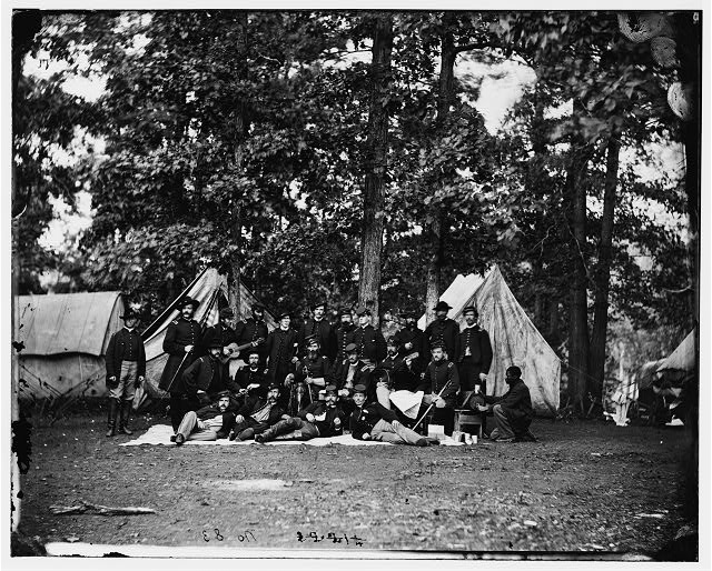 Culpeper, Virginia. Officers of U.S. Horse Artillery, Army of the Potomac