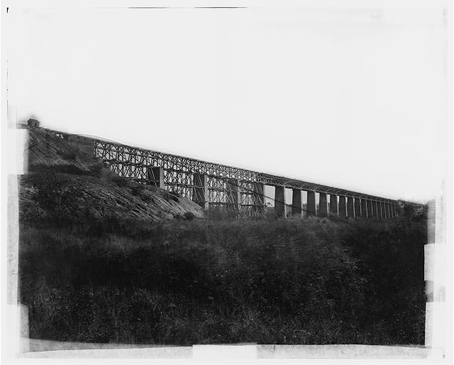 Farmville, Virginia (vicinity). High bridge of the South Side Railroad across the Appomattox