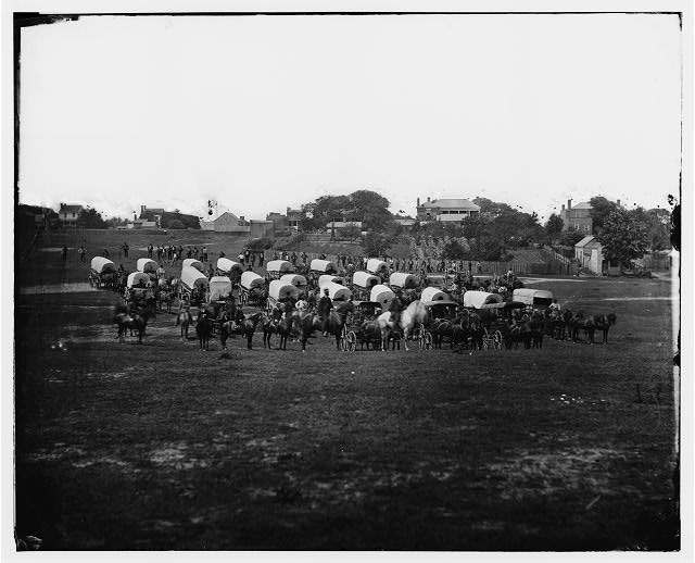 [Richmond, Va. Wagon train of Military Telegraph Corps]