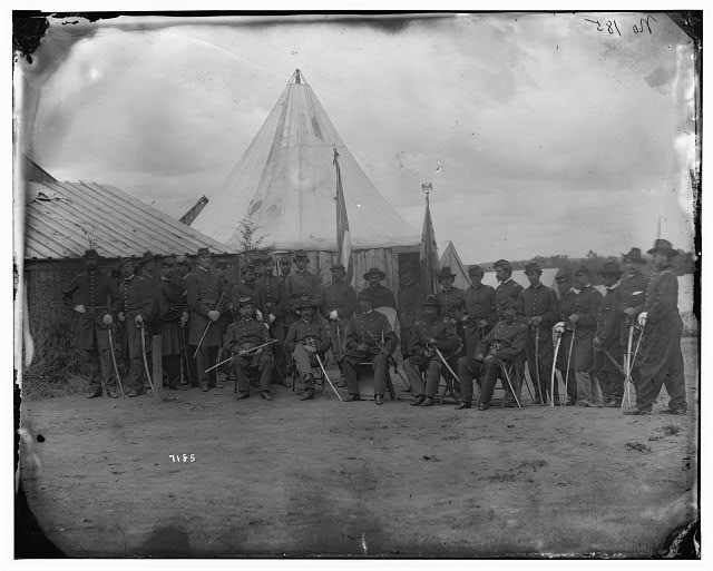 Prospect Hill, Virginia. Officers of 13th New York Cavalry (Seymour Light)