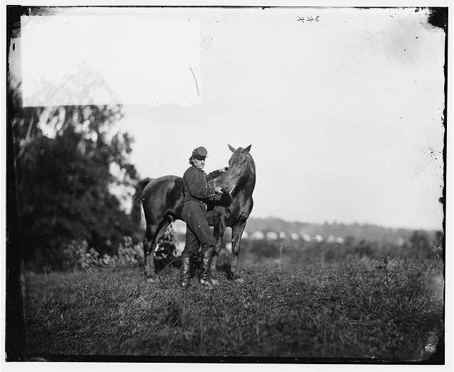 Culpeper, Virginia. Lt. Williston and horse. U.S. Horse Artillery