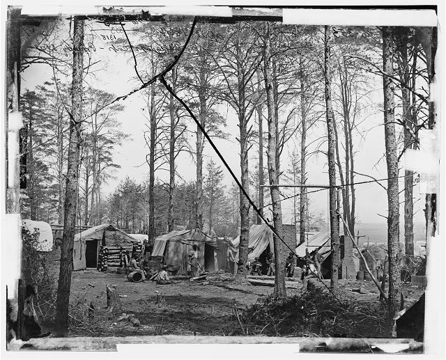 Brandy Station, Virginia. Telegraph Corps camp