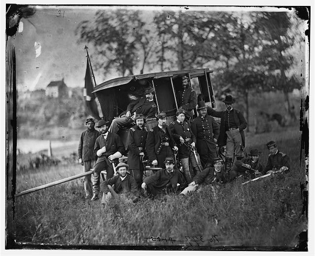 [Culpeper, Va. Gen Robert O. Tyler and staff of the Artillery Reserve]