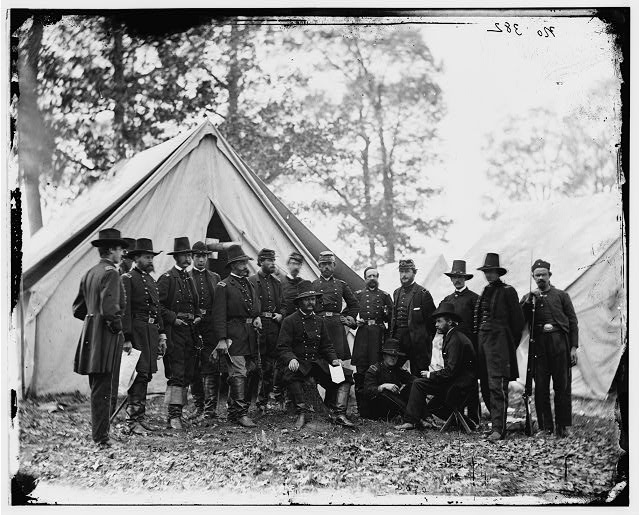 [Warrenton, Va. Gen. Ambrose E. Burnside and staff; another view]