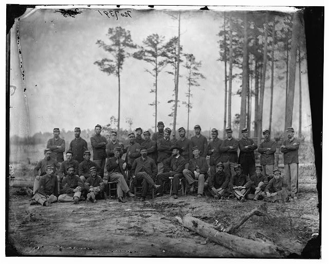 Petersburg, Virginia. Non-commissioned officers, 1st Massachusetts Cavalry at Army of the Potomac headquarters