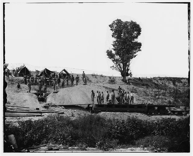 "[Petersburg, Va. The ""Dictator,"" a 13-inch mortar, in position]"