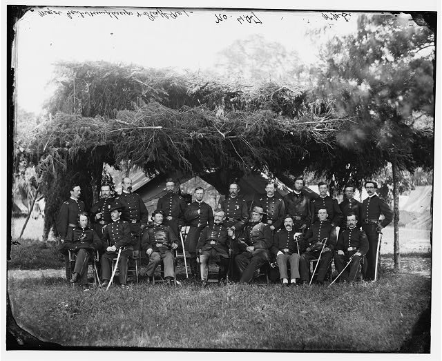 [Washington, District of Columbia (vicinity)]. Gen. Andrew A. Humphreys and staff