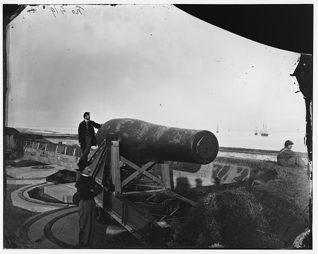 "[Fort Monroe, Va. The ""Lincoln Gun,"" a 15-inch Rodman Columbiad]"
