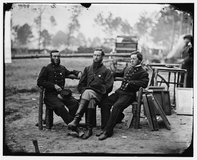 [Petersburg, Va. Three surgeons of 1st Division, 9th Corps]