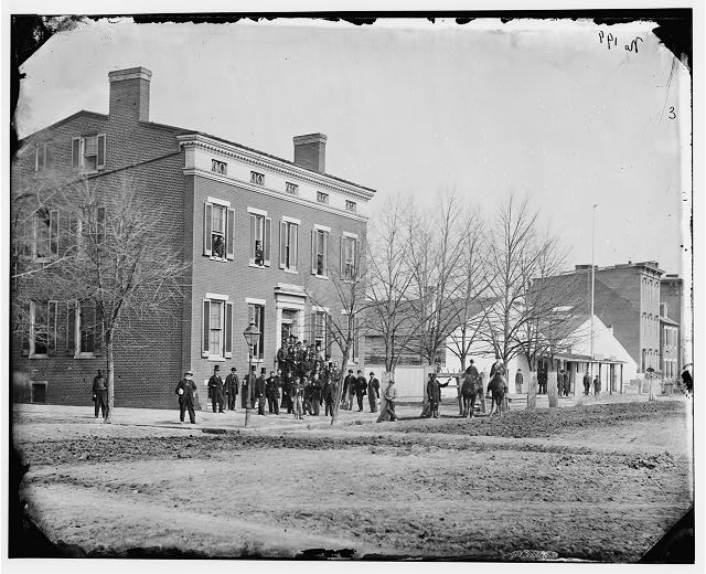 [Washington, D.C. Clerks in front of office of Commissary General of Prisoners, F St. at 20th NW]