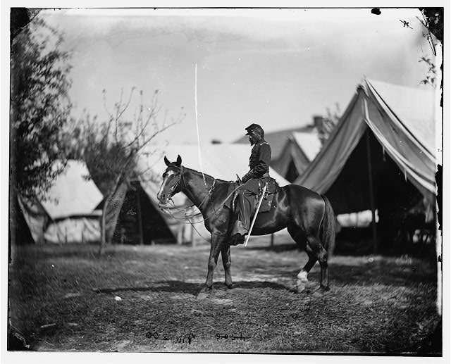Antietam, Maryland. Lt. Col. Charles B. Norton at headquarters of Gen. Fitz-John Porter