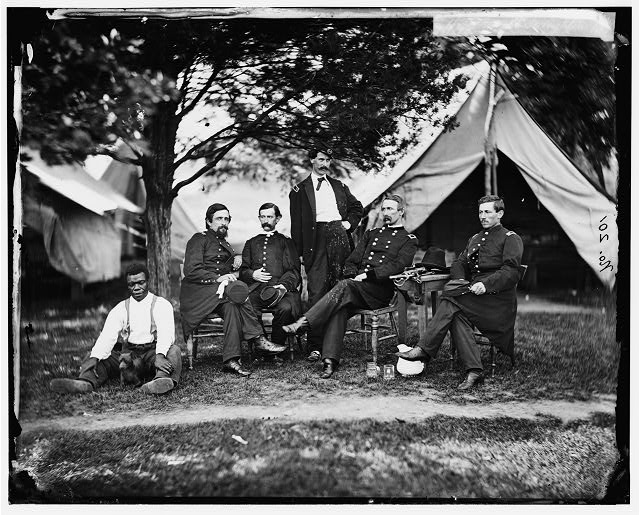 [Washington, District of Columbia]. Gen. Napoleon Bonaparte McLaughlen and staff