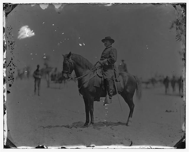 [Washington. D.C., vicinity.  Maj. Gen. Alexander M. McCook on horseback, Brightwood]