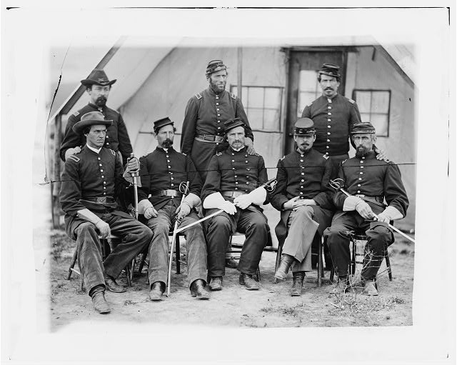 Washington, District of Columbia (vicinity). Maj. H.W. Sawyer and staff