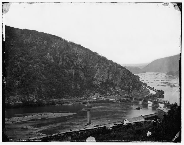 Harper's Ferry, West Virginia. View of Maryland Heights, [1865]. (Photo by James Gardner. Library of Congress)
