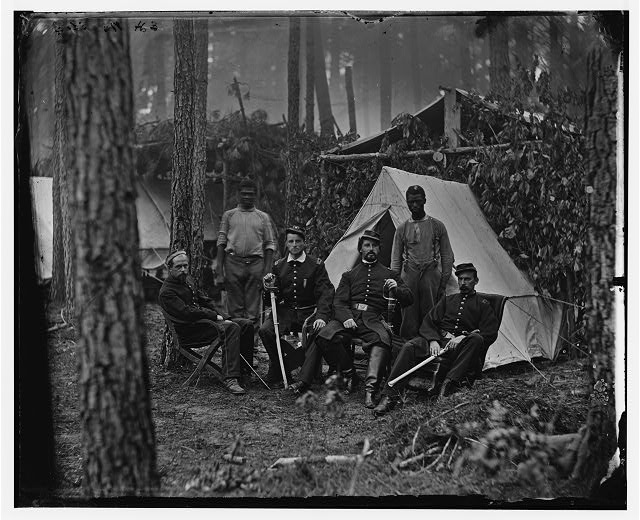 Petersburg, Virginia. Officers of 114th Pennsylvania Infantry