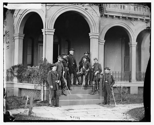 [Warrenton, Va. Gen. Edwin V. Sumner and staff]
