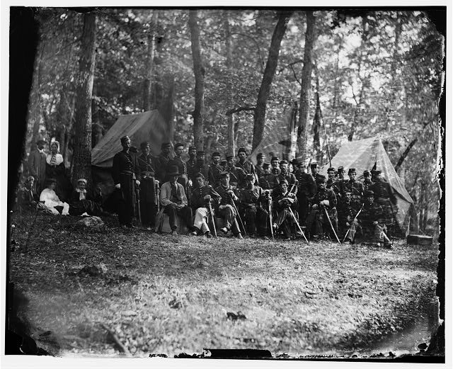 Gettysburg, Pennsylvania. Officers of 50th Regiment Pennsylvania Infantry