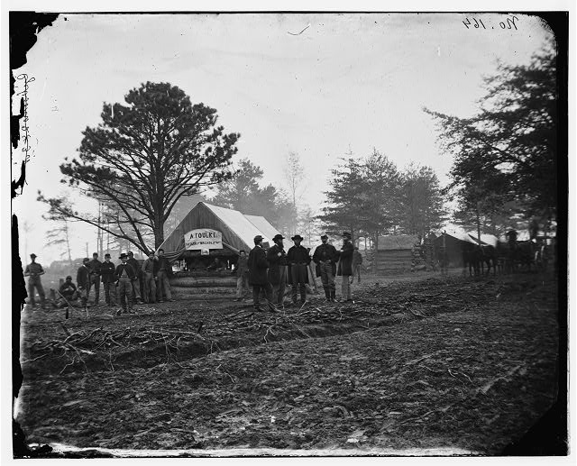Brandy Station, Virginia. Tent of A. Foulke, Sutler at headquarters of 1st Brigade, Horse Artillery