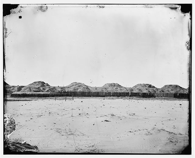 Fort Fisher, North Carolina. Panoramic view of front. (Part 2)