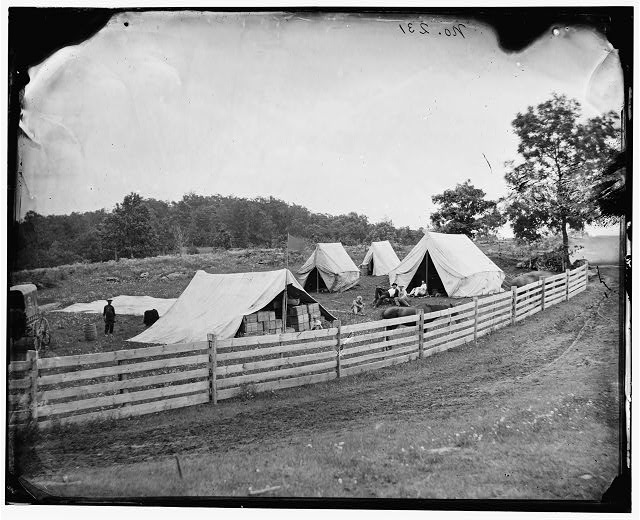 Gettysburg, Pennsylvania. Camp of Captain John J. Hoff. Commissory of Subsistance